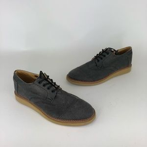 59647a23759 Toms Brogue Cotton Twill Cap Toe Oxford Shoes NEW
